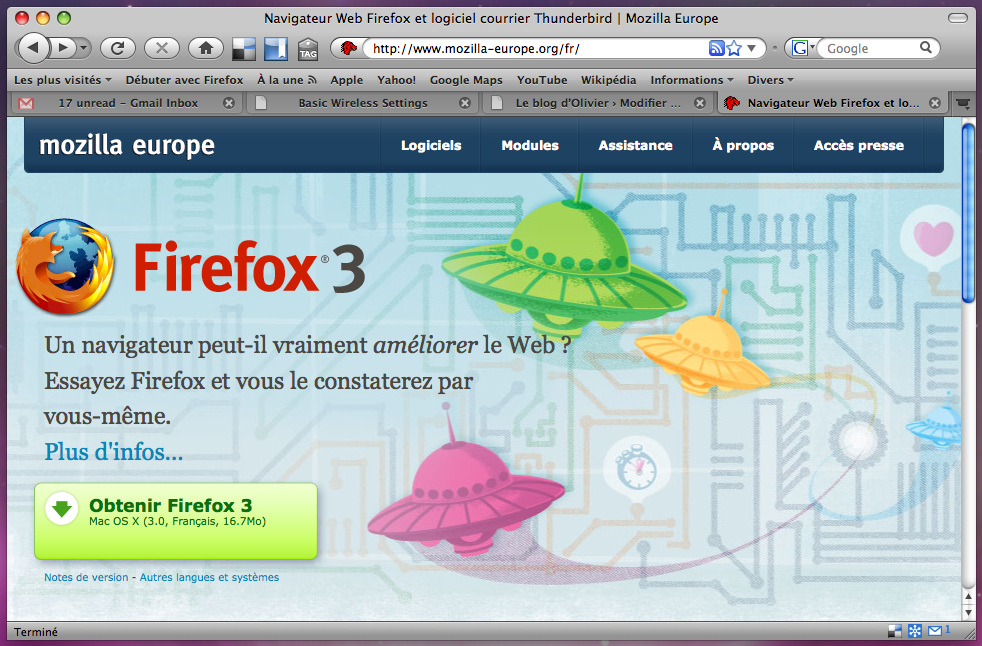 Firefox 3 sur mozilla-europe.org